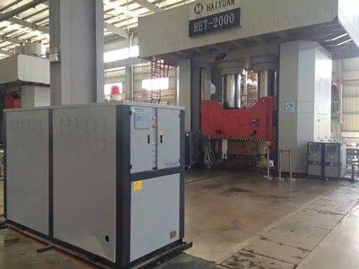 Pressing equipment temp. control