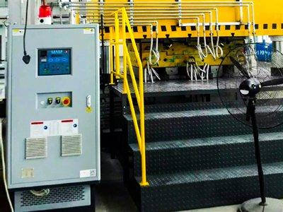 SMC material pressing temp. control