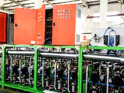 Tyre production line temp. control