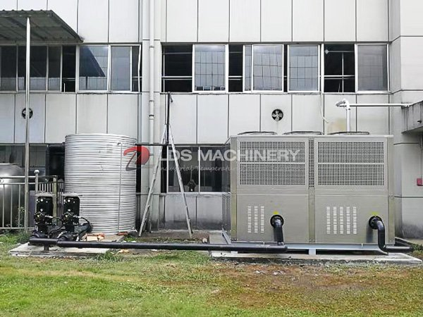 large chillers with stainless steel